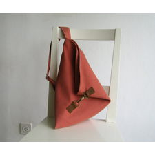 Over the Shoulder Purse in Coral Vegan Suede
