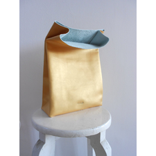Golden leather paper bag
