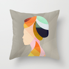 On & On Throw Pillow