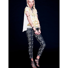 Eunina Printed Ankle Skinny at Free People Clothing Boutique