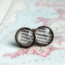 World Traveller Vintage Copper Cufflinks