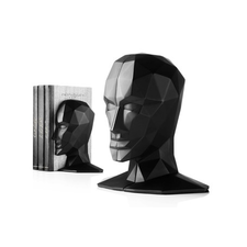 Knowledge in the Brain Bookends by Karim Rashid Black