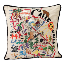 HAND EMBROIDERED STATE PILLOWS | new york pillow, texas | UncommonGoods